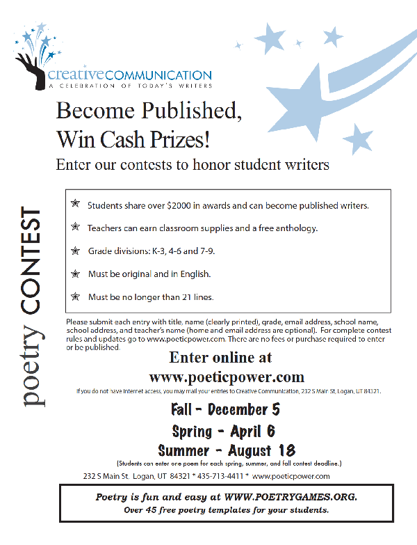 poets and writers essay contests Writing contests help writers poets & writers books make a difference team members, who are all published writers.